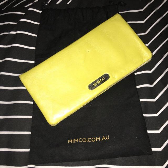 Mimco Yellow wallet