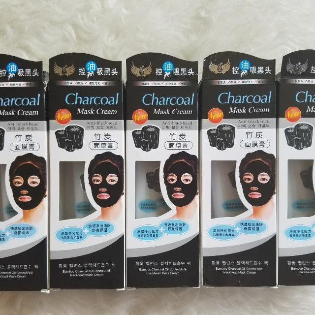 NEW CHARCOAL MASK CREAM - MASKER ARANG ANTI BLACKHEAD