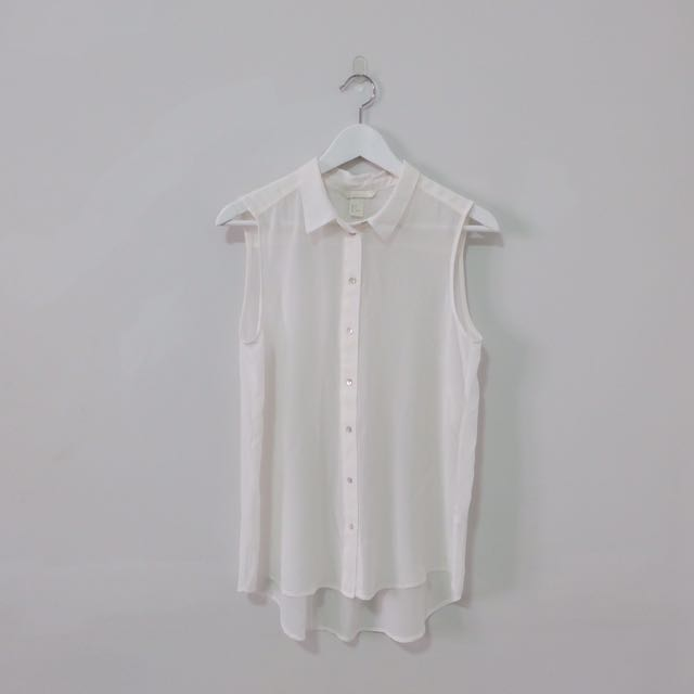 NEW! H&M White Collar Tops