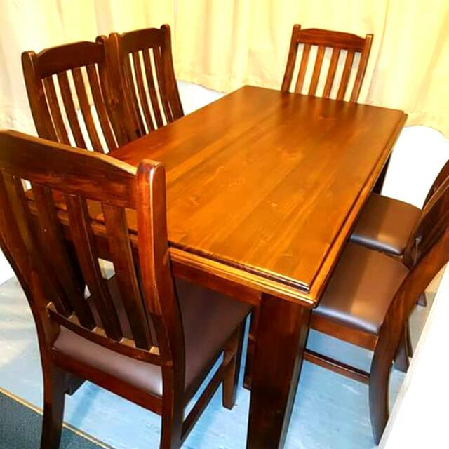 NZ PINE 6x SEATER DINING TABLE