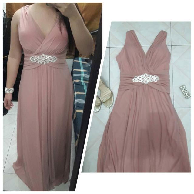 Old Rose Color Gown Womens Fashion Clothes On Carousell