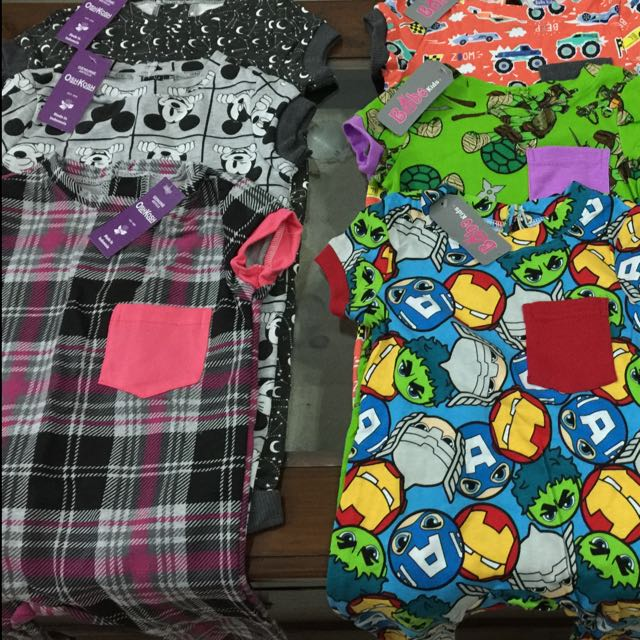 Oshkosh Or Bobokids Playsuit Pocket Unisex / Pakaian Anak Laki2 Dan Perempuan Branden