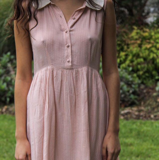 Pink Collard Dress