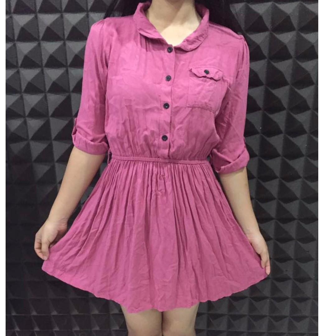 Pink Shirtdress