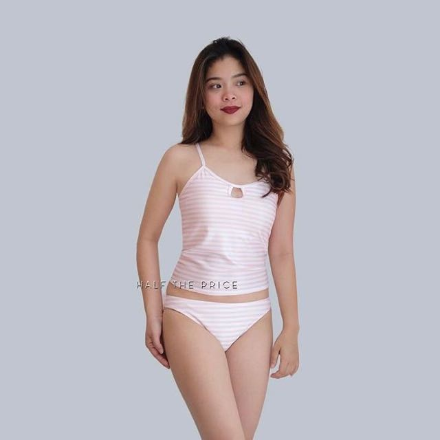 Pink-striped Two-piece