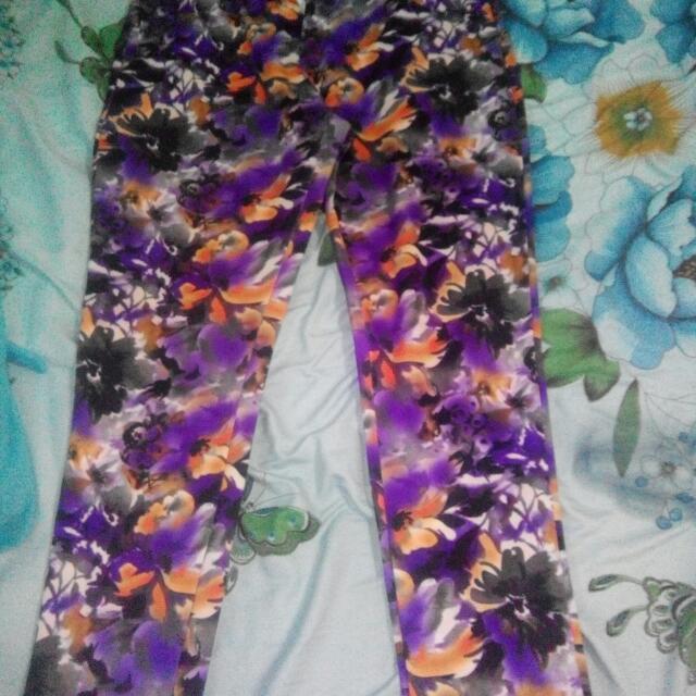Plus Size Floral Jeans