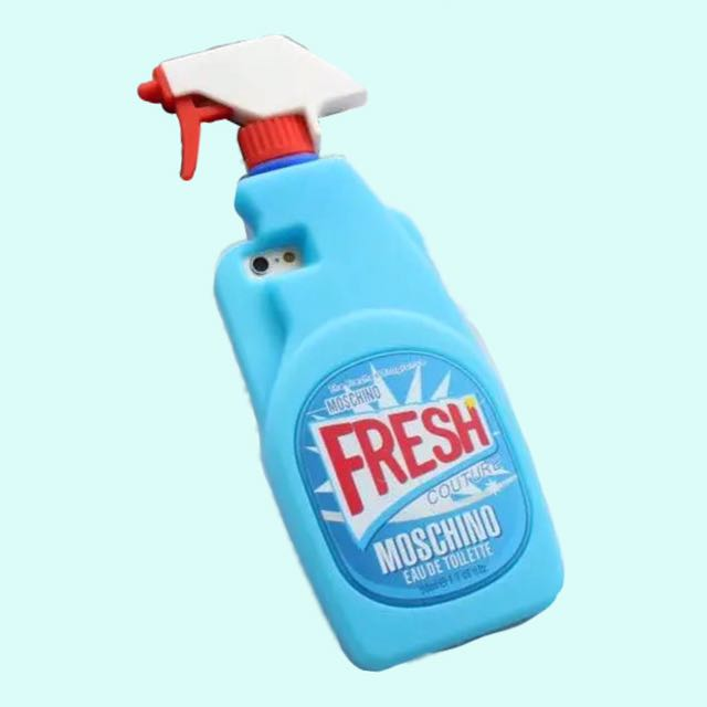 official photos a9887 8d468 [PO] moschino detergent fresh! spray silicone phone case 💦
