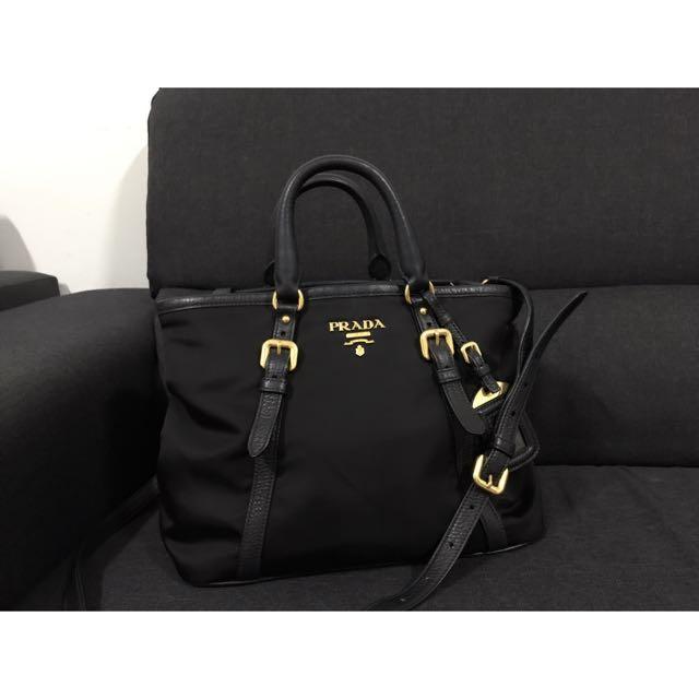 ... closeout prada nylon tote bag luxury bags wallets on carousell e8e82  3b31c c366493539