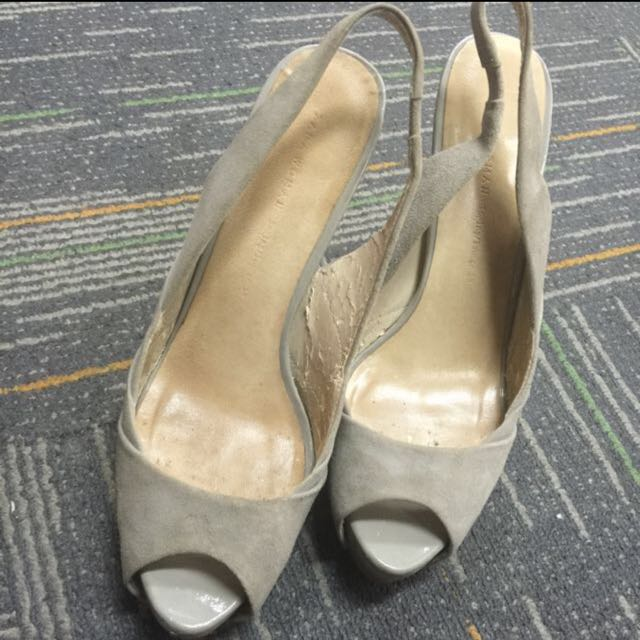 Fast Sale! Preloved authentic Zara woman suede heels