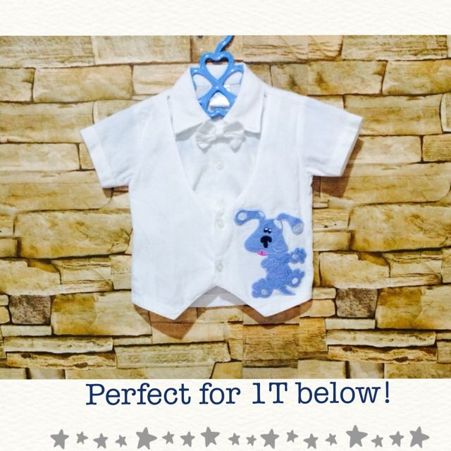 Preloved Baby Boy polo with bowtie