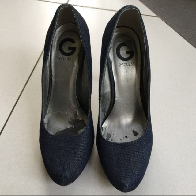 Fast sale!! Preloved Guess denim heels