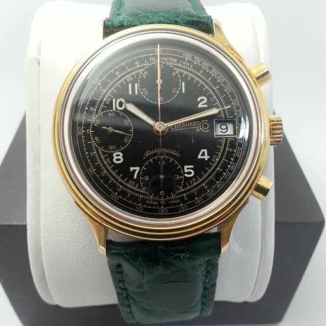 Rare Black Eberhard & Co – Chronograph Vintage