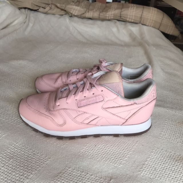 Reebok Baby Pink Classic Leather