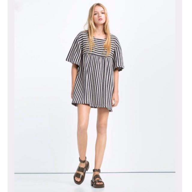 #REPRICE Zara Trafaluc Stripe Dress