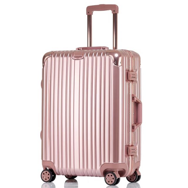 Rimowa 同款 玫瑰金鋁框行李箱