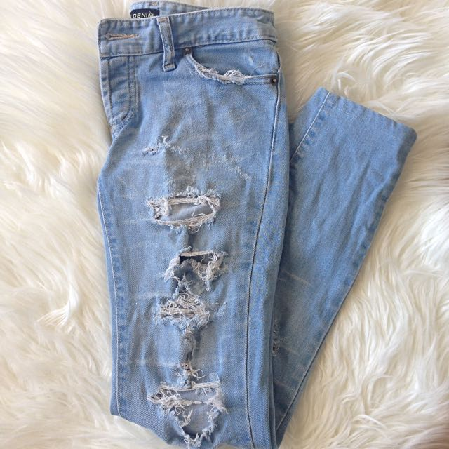 ripped denim jeans size 7