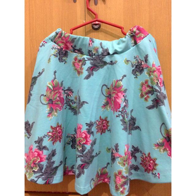 Reprice: Skater Floral Skirt