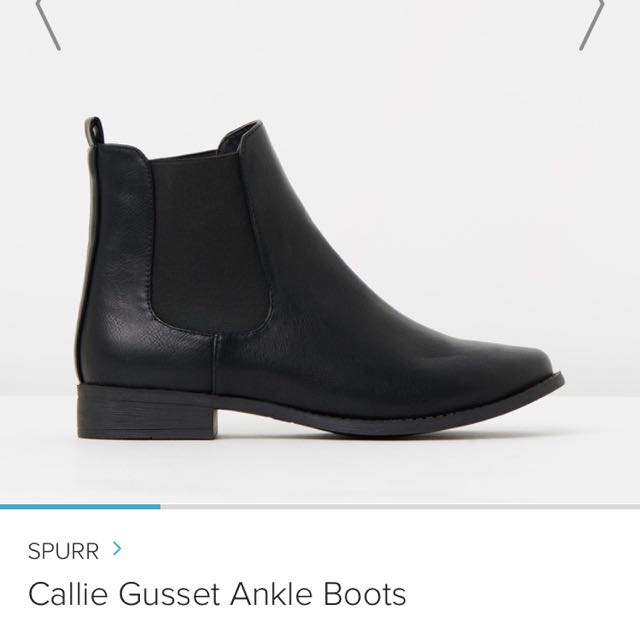 SPURR Callie Gusset Ankle Boot Black