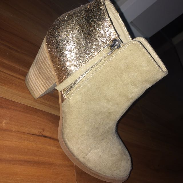 Tan And Gold Boots