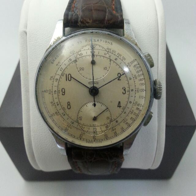 2cd2f7d6c7d Technos Chronograph Venus 170 Vintage Swiss Made