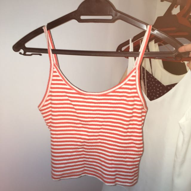 Topshop Ribbed Tank Top
