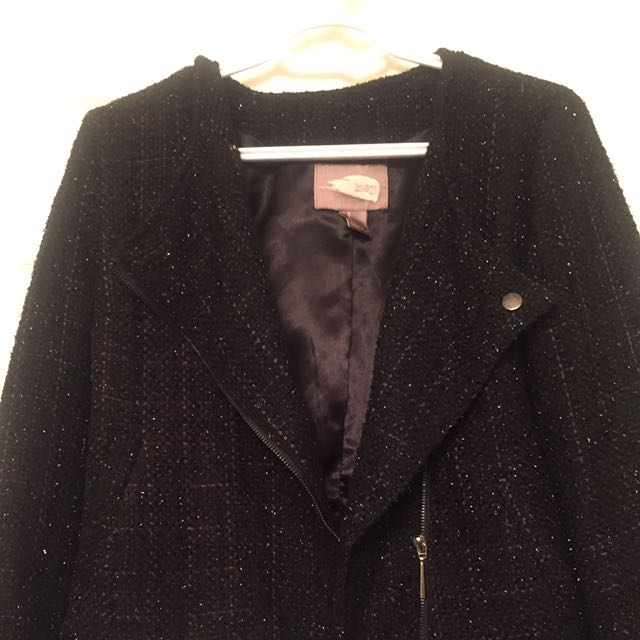 Tweed Black Blazer/jacket From Forever 21