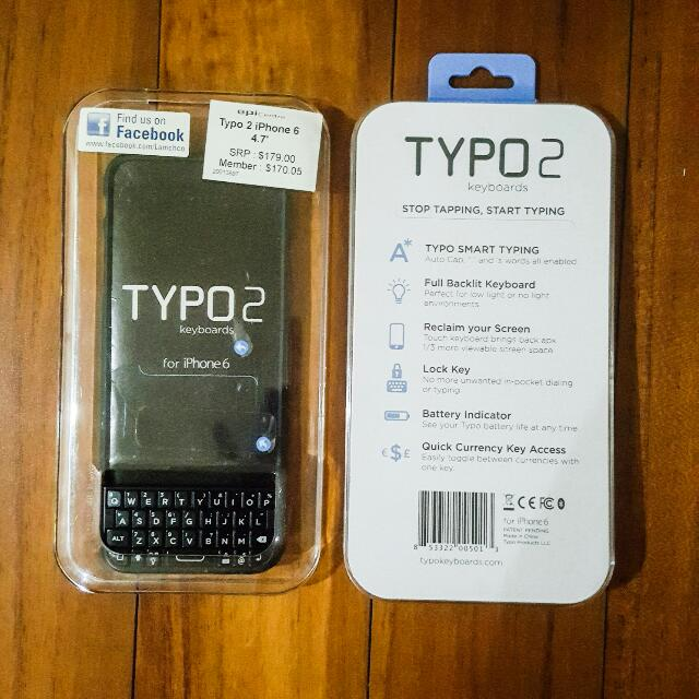 TYPO 2 Keyboard for Iphone 6 Case