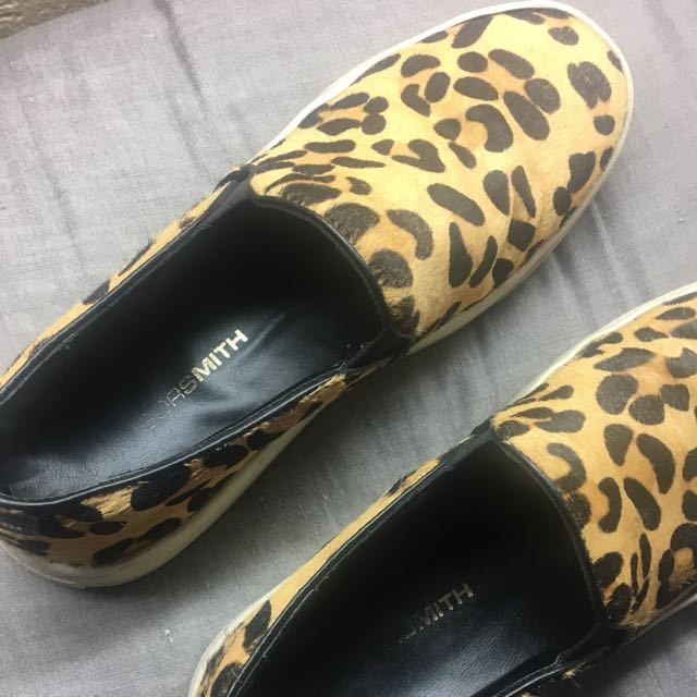 Windsor Smith Leopard Print Loafers