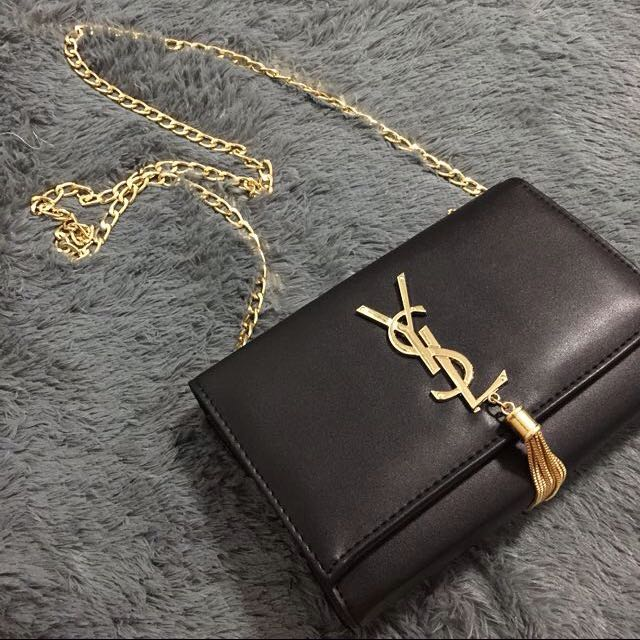 fc51593efdf YSL Saint Laurent Tassel Bag Clutch Bag, Luxury, Bags & Wallets on ...