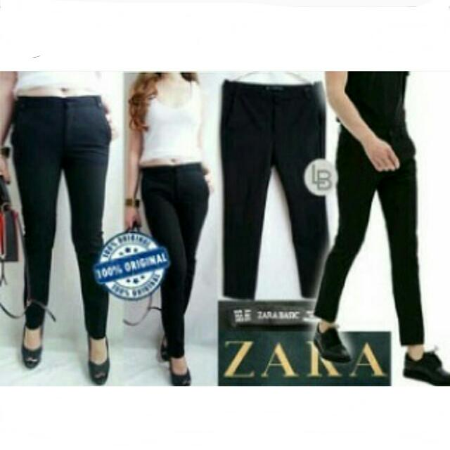 ZARA BASIC Black Trouser Pants
