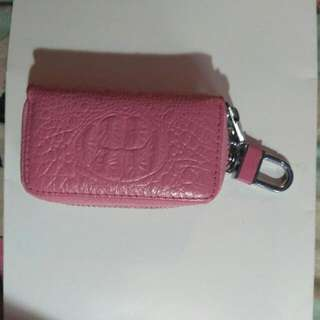 Key Holder, Key chain Pink Leather
