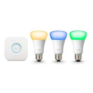 Philips Hue White and Colour Ambiance E27 Starter Kit - Richer Colour Bulbs, 3rd Generation