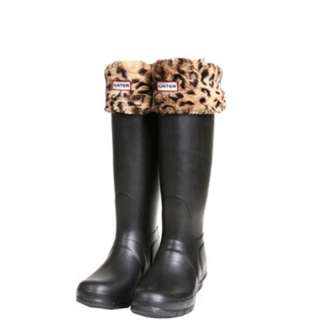 hunter leopard welly socks