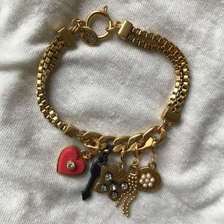 juicy couture charm bracelet + free gift!
