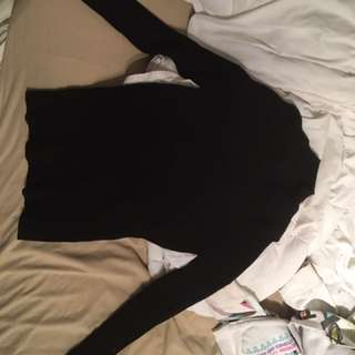 Forever 21 Black Ribbed Turtleneck