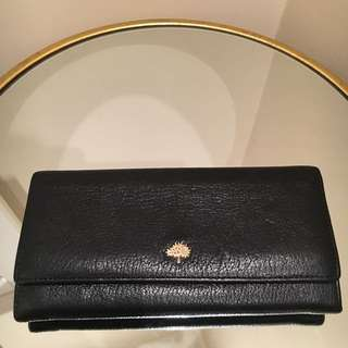 Mulberry Tree Continental Wallet In Black Glossy Goat