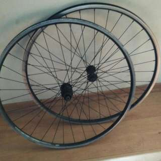 Double Wall Wheelset..dismantle From Polygon Bike...