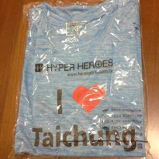 Hyper Heroes 台中路跑I love Taichung 上衣Xl短T