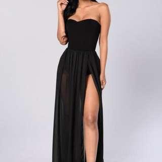 REDUCED Fashionnova Black Maxi Dress