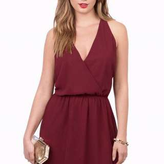 Tobi Maroon Lace Dress