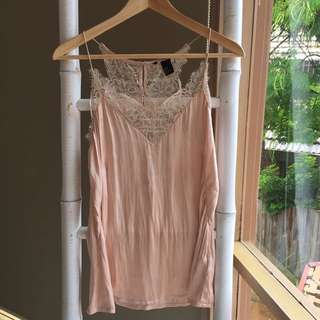 Sweet H&M Lace Camisole Sz 36 Au8-10 As New