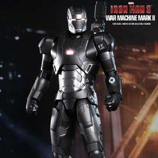 Hot Toys War Machine Die Cast 1/6 Bib Iron Man 3 Avengers Marvel