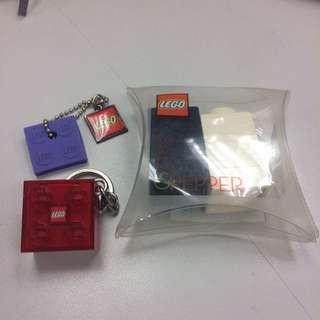 Lego- Salt & Pepper Set / 2 Key Rings
