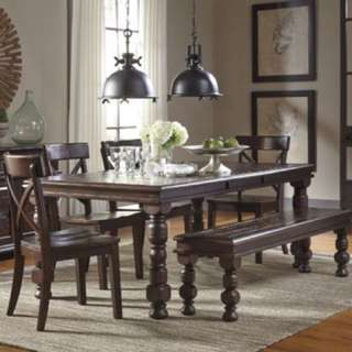 Ashely  Table Bench And Chairs