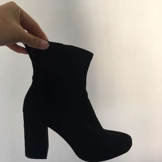 Zara Calf Boots Ankle Booties