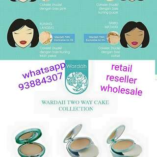 Wardah two way cake collections (Refill $8) Ready Stock ❤ Wardah Halal Cosmetic...buy 3 item get discount 10%...wardah beauty outlet ❤ centropod @ 80 changi road ( near bus stop maybank geylang serai) singapore ❤ retail / reseller/ wholesale