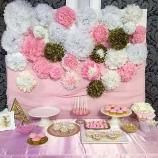 Backdrop for sweet table - Birthday party prop