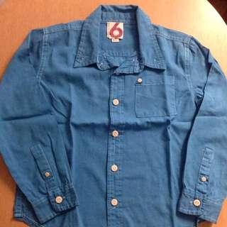 Cotton On Blue Long-sleeve Shirt