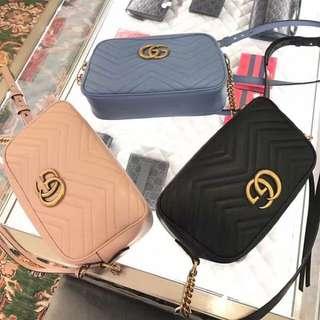 Gucci 小側背包-三色-真品義大利代購