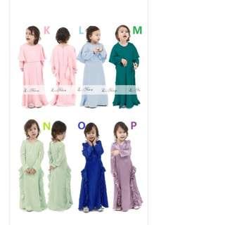 Girl Raya Dress Jubah